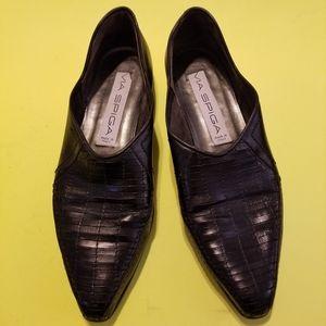 Via Spiga, 7.5, croco,loafers
